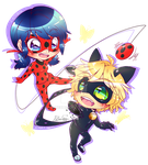 .:Miraculous - Ladybug and Cat Noir:. by KatheChan