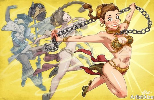 Slave Leia Transformation by ArtistAbe