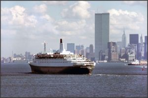 QE2 and the World Trade Centers by Kipfox32