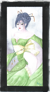 Geisha Watercolor by Foenixfyre
