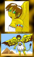 Miki the Sphinx - 2004 and 2007 by Enshohma