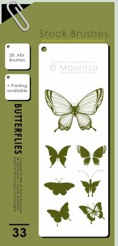 Brush Pack - Butterflies by MouritsaDA-Stock