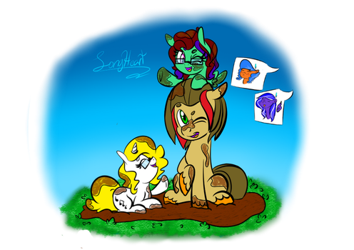 Playing in the mud by Andreathehedgehog0