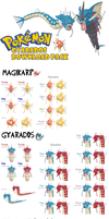 DOWNLOAD: XY Gyarados Pack by DisastrousBunny