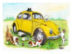 Dogs Adventure with Taxi Bug by gypsysnail