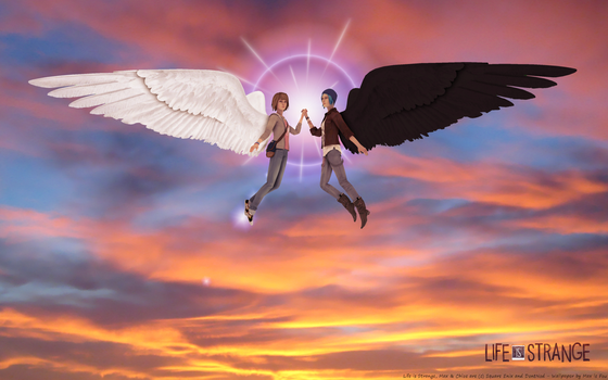 Life is Strange - The Two Angels (wallpaper) by maxlefou