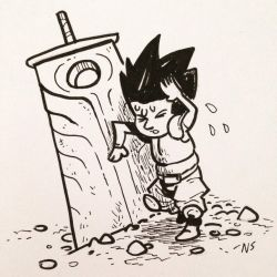 Inktober 2016 #25: TIRED by SquidMantis