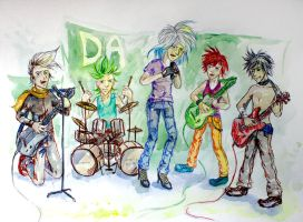 The Mega Band by Lerock96me