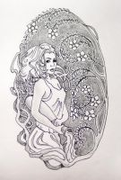 Aquarius tattoo sketch by Nelsonito