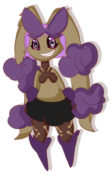 Mega Lopunny Toxic Chibified by Shadow-pikachu7