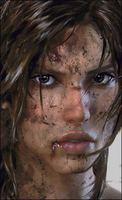 Lara Croft (Dirty Face) in minecraft pixelart by zhinjio