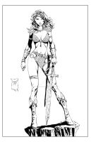 Red Sonja - lores by JeffGraham-Art