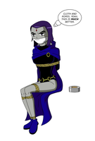 Raven NOT Taped Up by Ztunner