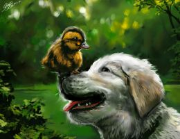 Duckling and Dog Tutorial by Entar0178