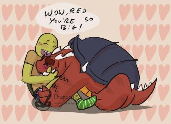 Pet Red and Donnie by Dragona15