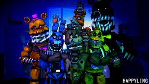 [SFM FNAF] Five nights at Freddy's 4 by Happyling