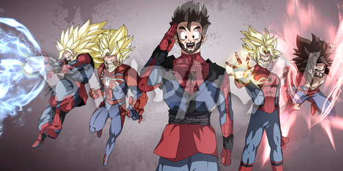 Peter Parker DBZ ( pp commission ) by dindakai