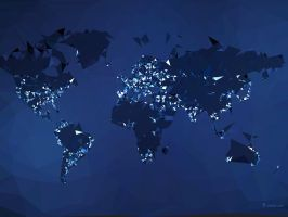 The World Simplified Night by vladstudio