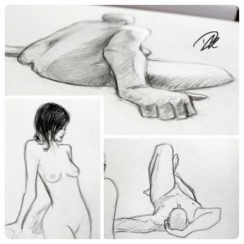 Life Drawing dump 2 by dhulteen