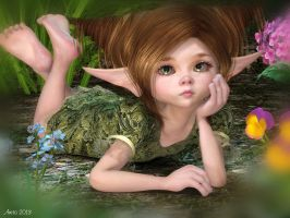 Sad lil Faery by art-by-Amaranth