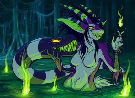 MONSTERRIFY: Swamp Fire by squeedgemonster