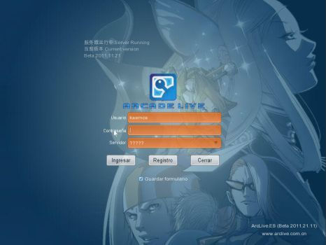 ArcLive NOV 2011 Test 3 - Login Screen by kaamya