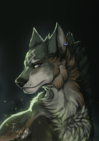 [LoZ] Wolf Link by Esquitax