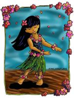 Hula Girl Badge by DragonPress