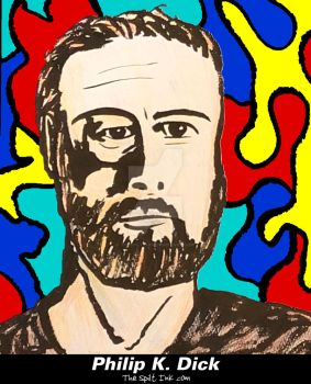 Philip K. Dick fan art by THE SPILT INK by thespiltink
