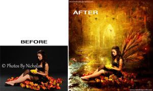 Autumn Mystery Before-After by bonbonka