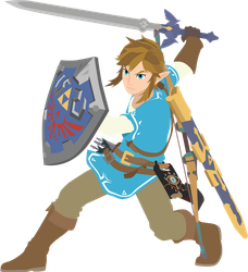 Link - 03 : Smash Bros Ultimate - Vector Art by firedragonmatty