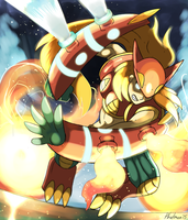 Pokegirl Collaboration: Volcanion by Phatmon
