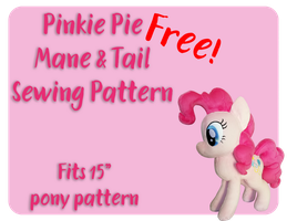 Pinkie Pie Mane and Tail Sewing Pattern by Fire-n-Fluff