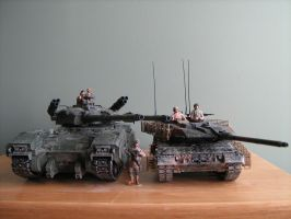 Mammoth Tank and Leopard 2A6M by Defibulator