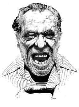 Charles Bukowski by stephenburger