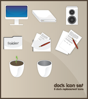 White Dock icons set by willylorbo