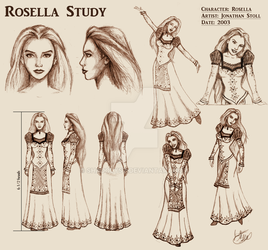Rosella Character Study Sheet 2003 by Shadolyst