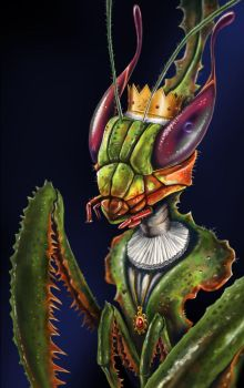 Mantis queen by Ninorabbi