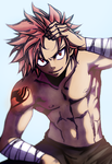 Natsu Dragneel- New design - Coloring by InsanityImpact