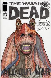 Jar Jar sketch cover by nathanobrien