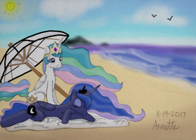 Royal Sister's Beach Day (ATG Day 16) by A-Bright-Idea