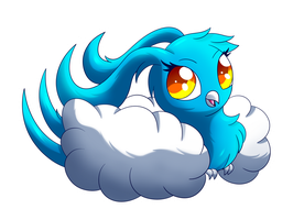 SN: Cute little cotton candy bird by MoonRayCZ