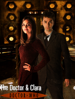 10th Doctor and Clara Oswald Poster by feel-inspired