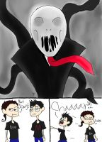 Evo and Mark VS SlenderMan by WonderTroll
