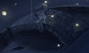 Firefly Fishing by bunniebabe