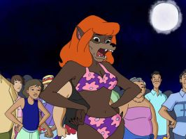 Werewolf Daphne In A Bikini by lonewarrior20