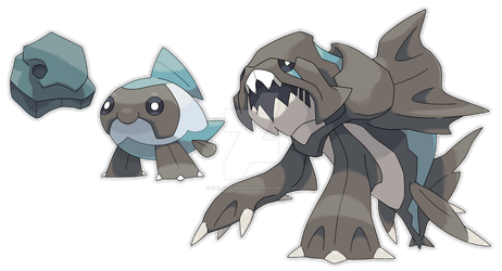 Dunkleosteus Fossil Fakemon - Commission by Smiley-Fakemon