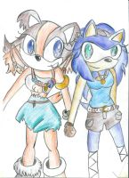 Stick the badger n Julia the hedgehog Sonic Boom by B-Gemini