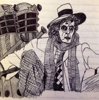 Peter Capaldi as Tom Baker as Dr. Who by ethicistforhire
