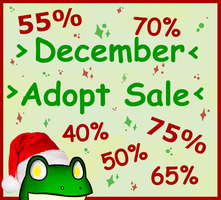 December Adopt Sale!! (CLOSED) by Adopt-From-Frog